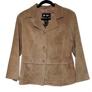 Brandon Thomas Tan Suede 3 Button Jacket